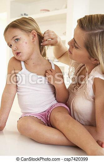 Mother nursing sick child - csp7420399