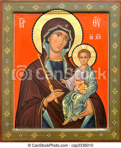 Mother of God Jesus Christ - csp3336010