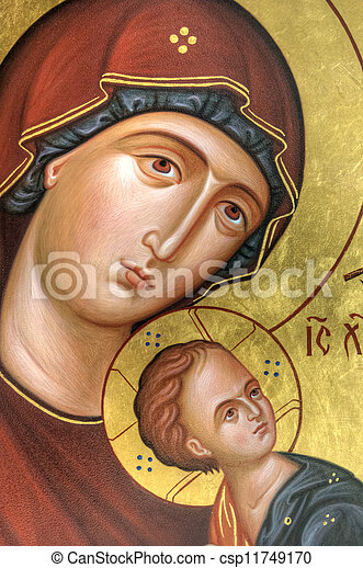 Mother of God Jesus Christ - csp11749170