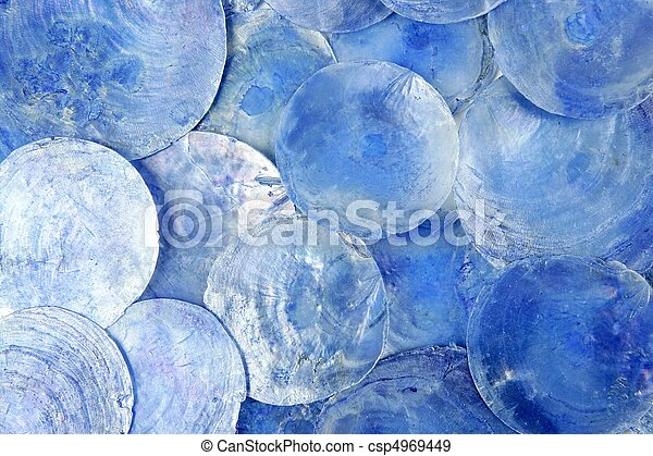 mother of pearl blue round circle pattern - csp4969449