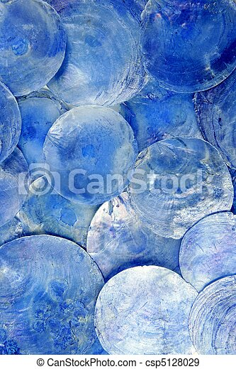 mother of pearl blue round circle pattern - csp5128029