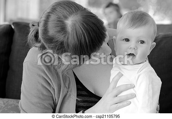 Mother play with her baby - csp21105795