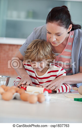Mother playing with her Son - csp1837763