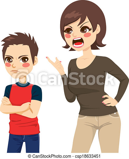 Mother Scolding Son - csp18633451