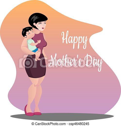 Mother with baby. - csp46480245