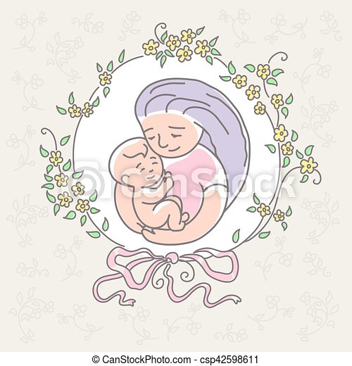 mother with baby. Happy Mothers Day. - csp42598611