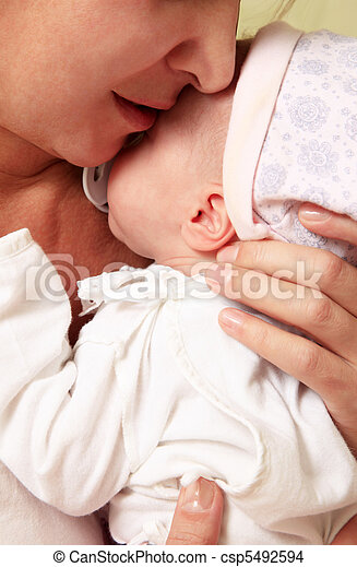 Mother with baby - csp5492594