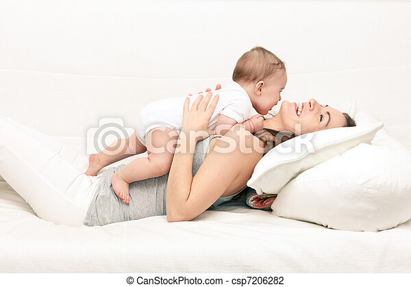 Mother with baby - csp7206282