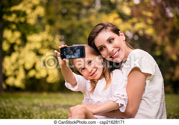 Mother with child selfie - csp21628171