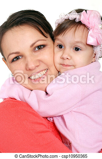 mother with daughter - csp10950365