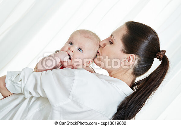 Mother with her child on arms - csp13619682