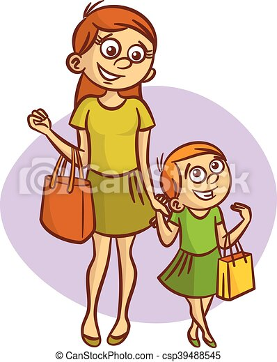 mother with little girl walking clipart vector illustration eps rh canstockphoto com mother clip art images mothers clip art free