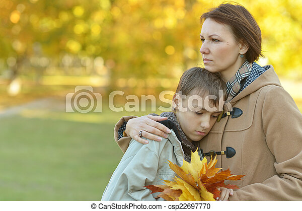 mother with son - csp22697770