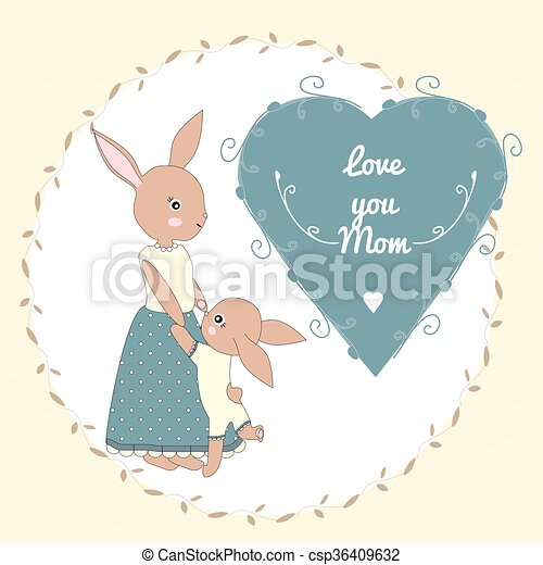 mother's, 日, カード, 挨拶 - csp36409632
