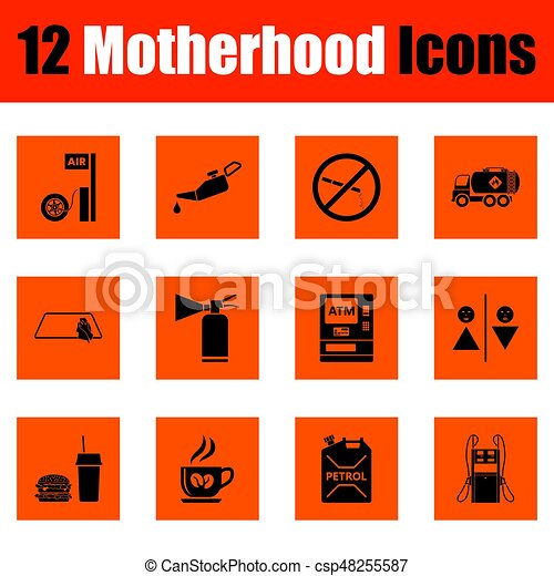 Motherhood icon set - csp48255587