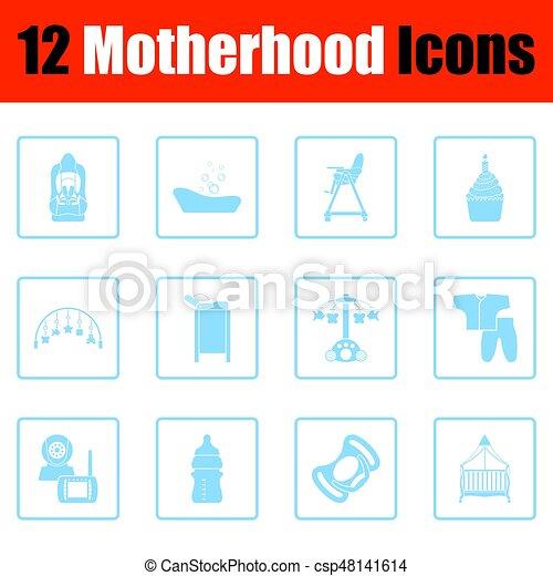 Motherhood icon set - csp48141614