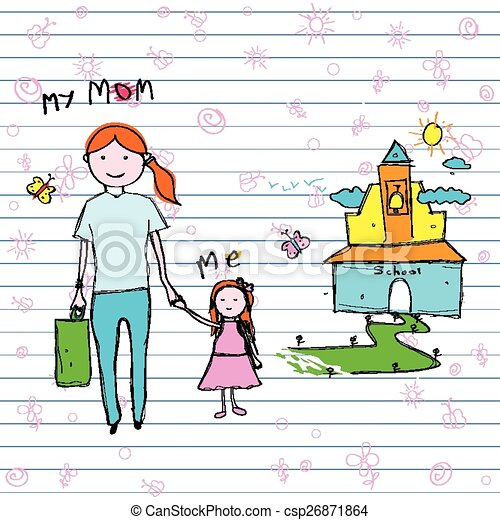 Easy To Edit Vector Illustration Of Mother S Day Backgroud Clip Art