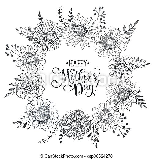 Mothers day card mothers day greeting card template happy mothers day card csp36524278 maxwellsz