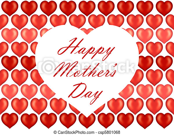 Mother's Day card on hearts pattern - csp5801068