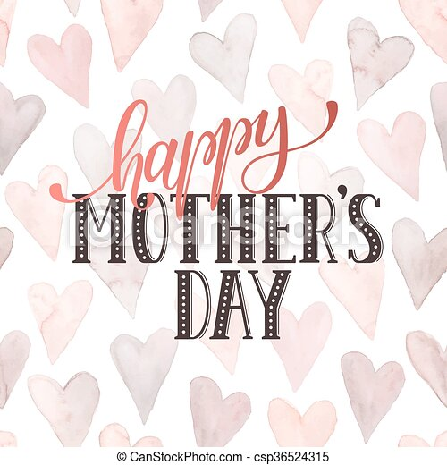 Mothers day card mothers day greeting card template happy mothers day card csp36524315 m4hsunfo