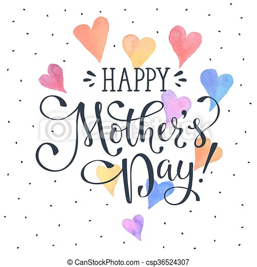 Mothers day card mothers day greeting card template happy mothers day card csp36524307 m4hsunfo