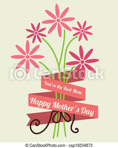 Mothers day design - csp19234873