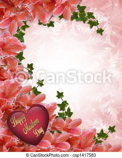Mothers Day Floral Border Azaleas - csp1417583