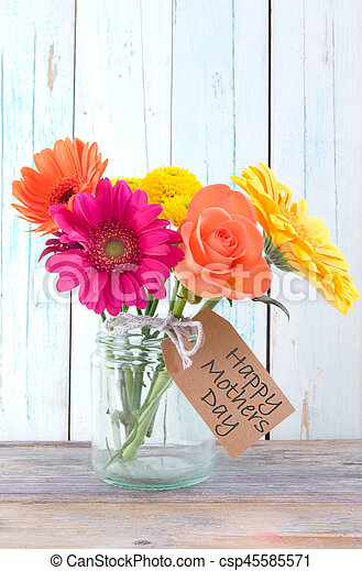 Mothers day gift flowers - csp45585571