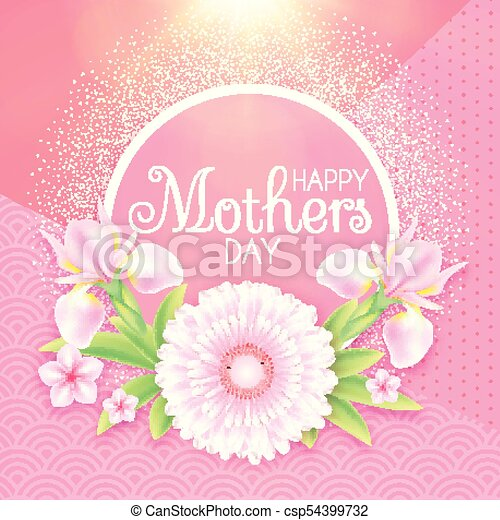 Mothers day greeting and invitation with soft flowers cute card mothers day greeting and invitation with soft flowers cute card design template for birthday anniversary wedding baby and bride shower and so on m4hsunfo