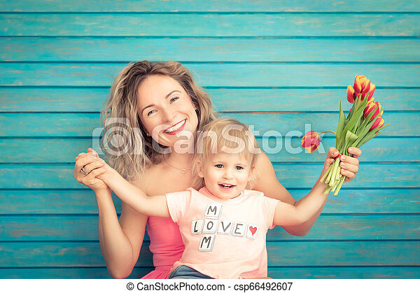 Mother's day spring holiday concept - csp66492607