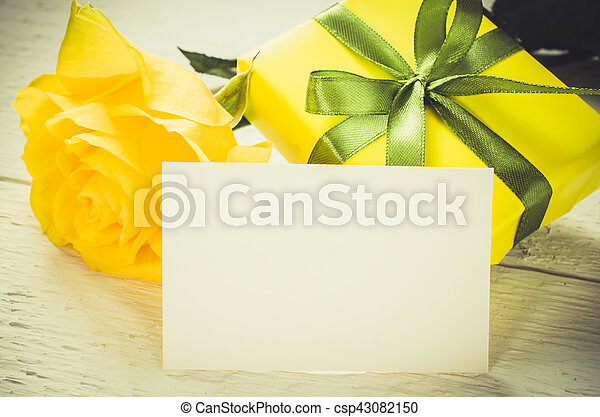 Mothers Day Valentines Or Birthday Concept Present Roses And