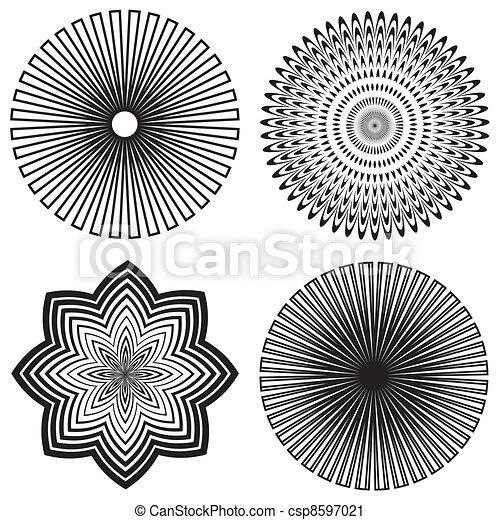 motieven, ontwerp, schets, spiraal - csp8597021