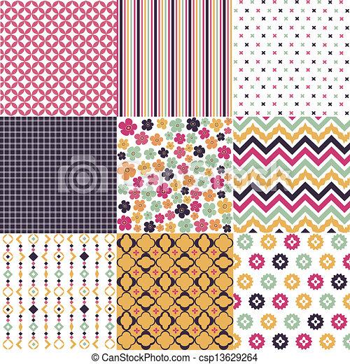 motieven, seamless, textuur, weefsel - csp13629264