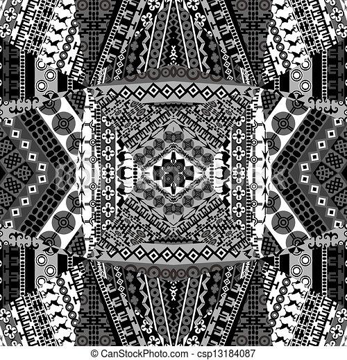art africain noir et blanc
