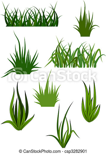 motifs, herbe, vert - csp3282901