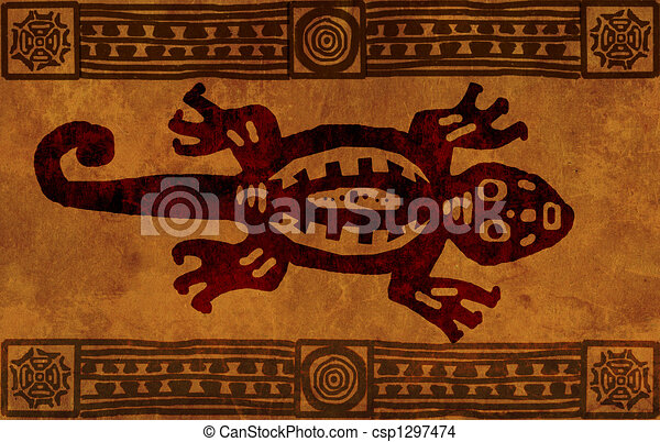 motifs, indien amérique, national - csp1297474