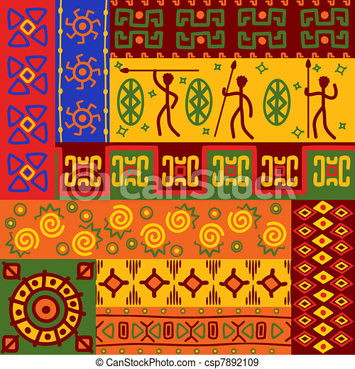 Motifs r sum ornements ethnique r sum africaine - Motifs africains maternelle ...