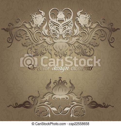 motifs, seamless, fond, élégant - csp22558658