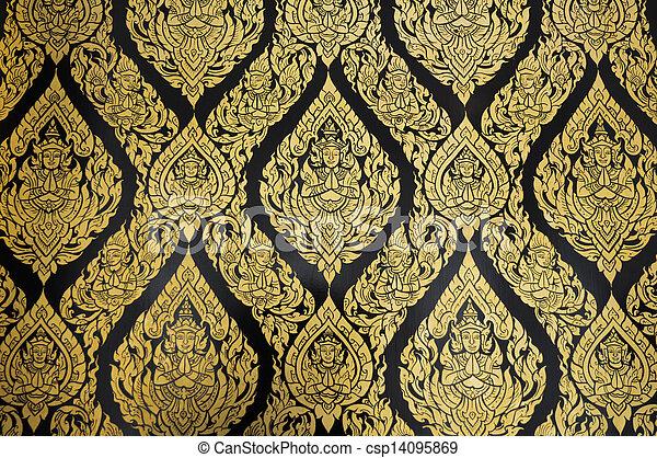 motifs, temple, ratchanatdaram, thaï, wat - csp14095869