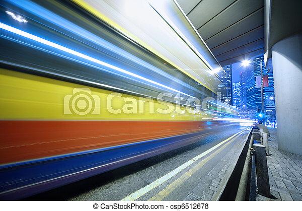 motion., スピード違反, バス, ぼんやりさせられた - csp6512678