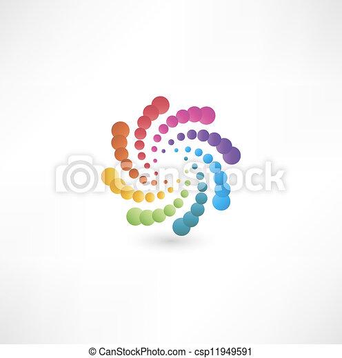 motion., desenho, espiral, elementos - csp11949591