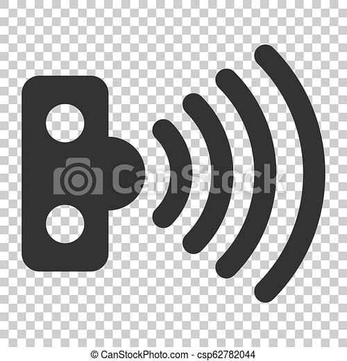 Motion sensor icon in flat style. Sensor waves vector illustration on isolated background. Security connection business concept. - csp62782044