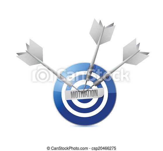 Diseño de ilustración de motivación objetivo - csp20466275