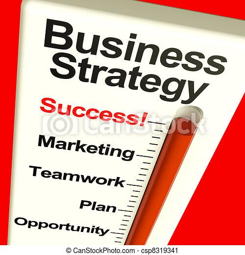 El éxito de la estrategia empresarial muestra visión y motivación - csp8319341
