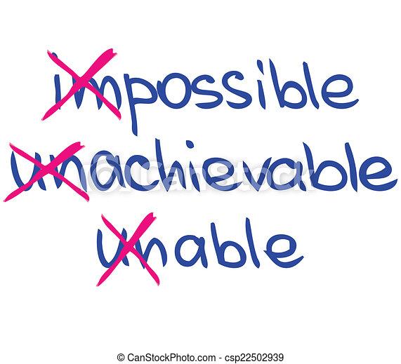 Palabras de motivación y éxito - csp22502939