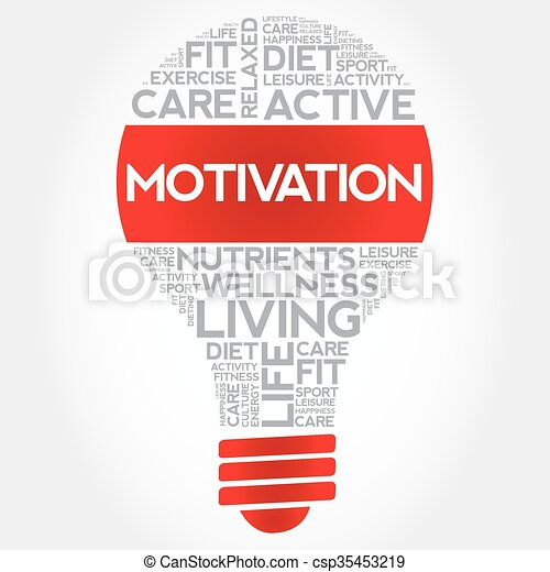 MOTIVATION bulb word cloud - csp35453219