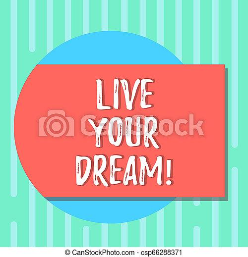 motivation, dream., couleur, texte, photo., forme, concept, vide, ton, bonheur, dehors, écriture, vivant, cercle, réaliser, être, business, réussi, buts, venir, ombre, inspiration, mot, rectangulaire - csp66288371