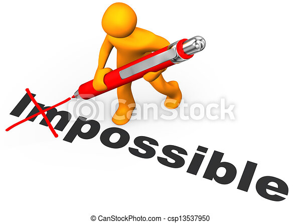 motivation orange cartoon character makes impossible possible rh canstockphoto com team motivation clipart workout motivation clipart