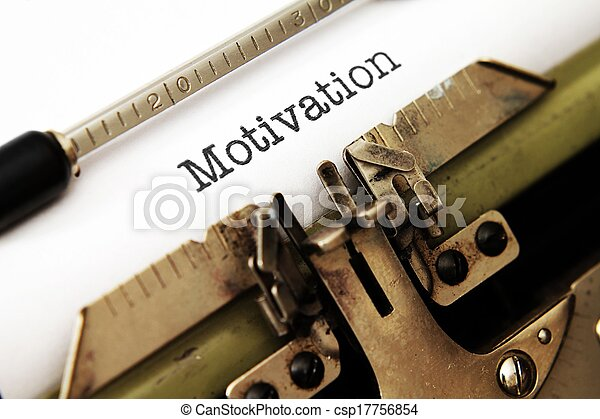 Motivation text on typewriter - csp17756854