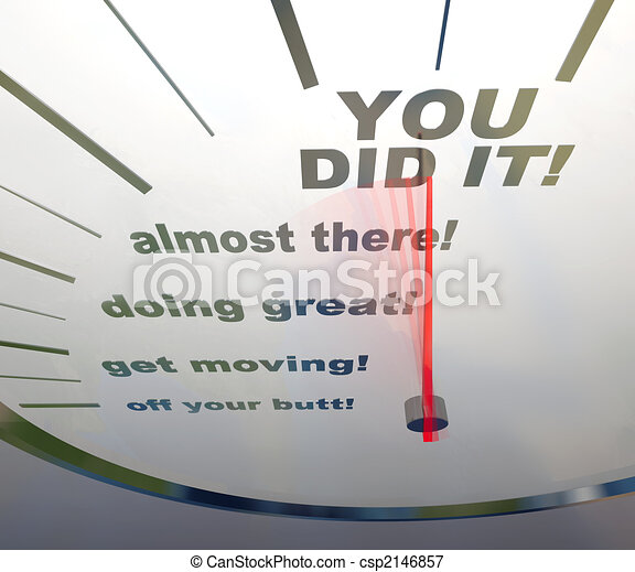 Motivational Speedometer - You Did It - csp2146857